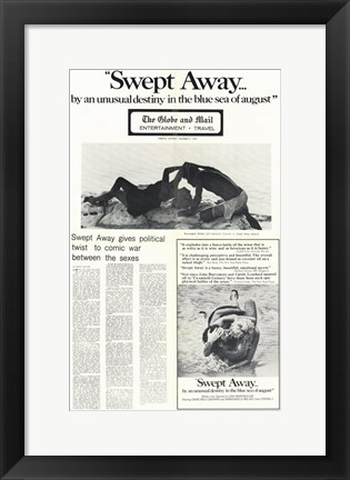Framed Swept Away By Unusual Destiny in Blue Se Print