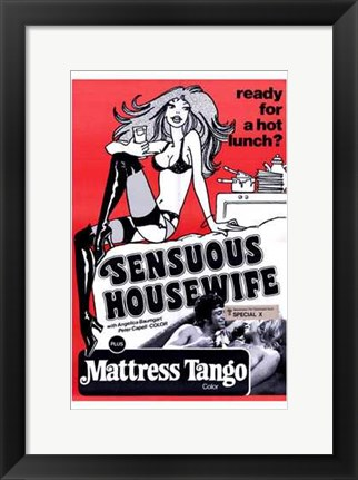 Framed Sensuous Housewife Print