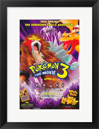 Framed Pokemon 3: the Movie Print