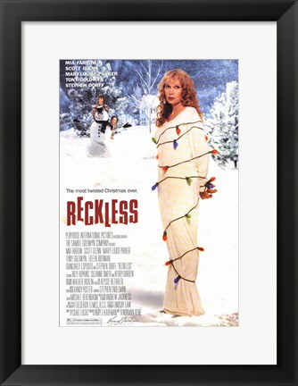 Framed Reckless - christmas lights Print