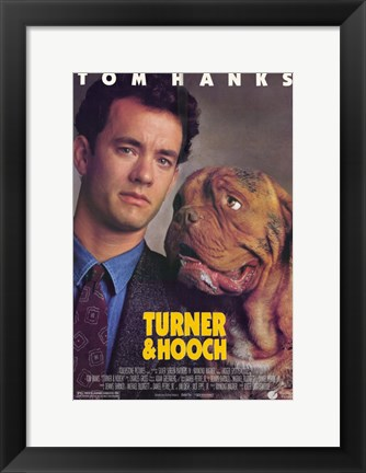 Framed Turner and Hooch Print