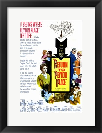 Framed Return to Peyton Place Print