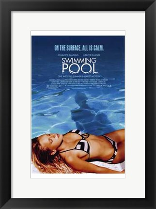 Framed Swimming Pool Print