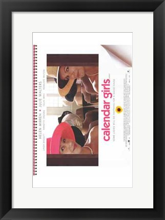 Framed Calendar Girls Print