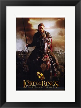 Framed Lord of the Rings: Return of the King Riding on Horse Print