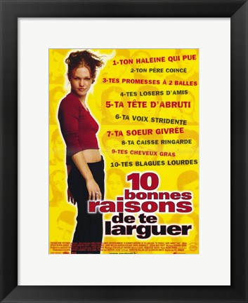 Framed Ten Things I Hate About You (French) Print