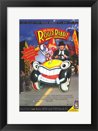 Framed Who Framed Roger Rabbit - Cartoon Car Print