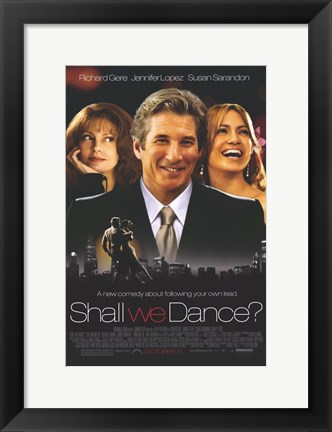 Framed Shall We Dance Richard Gere Jennifer Lopez Print