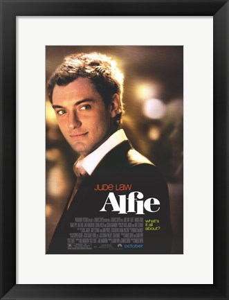 Framed Alfie Jude Law Print