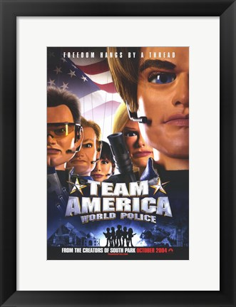Framed Team America: World Police Film Print
