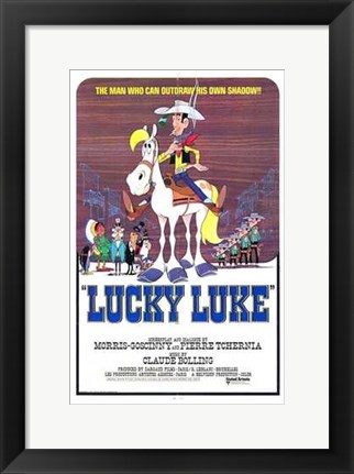 Framed Lucky Luke Print