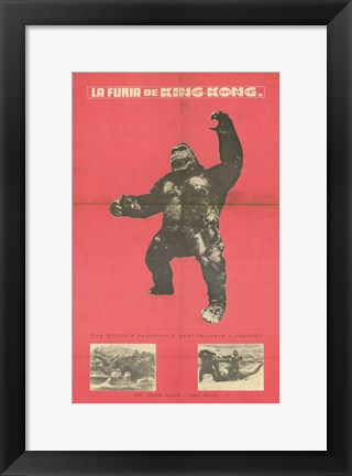 Framed King Kong Strikes Again Print