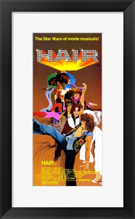 Framed Hair Star Wars Musical Print