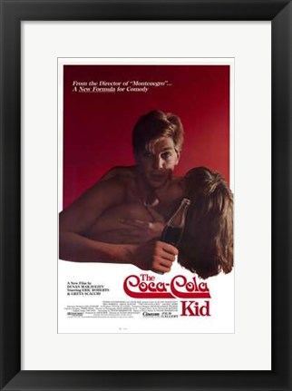 Framed Coca-Cola Kid Print