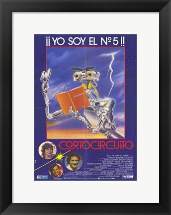 Framed Short Circuit Spanish Print