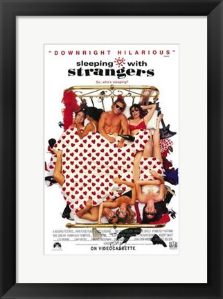 Framed Sleeping with Strangers Print