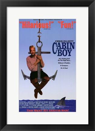 Framed Cabin Boy - on an anchor Print