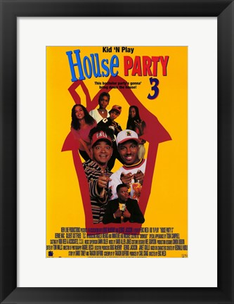Framed House Party 3 Print