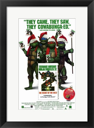 Framed Teenage Mutant Ninja Turtles 2: the Secr Print