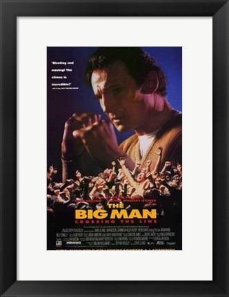 Framed Big Man: Crossing the Line Print