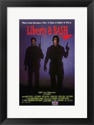 Framed Liberty and Bash Print