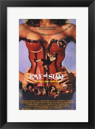 Framed Love At Stake Print