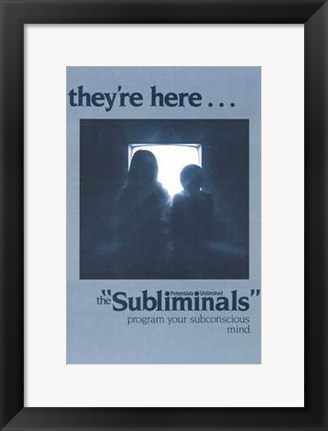 Framed Subliminals Print