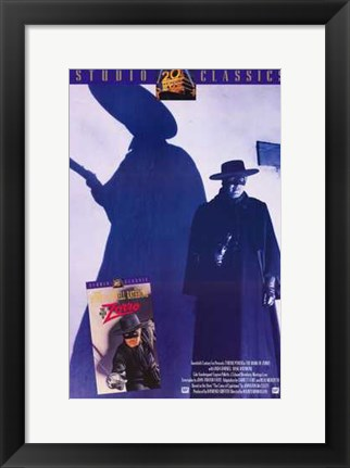 Framed Mark of Zorro Silhouette Print