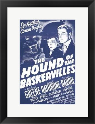 Framed Hound of the Baskervilles Sir Arthur Conan Doyle Print
