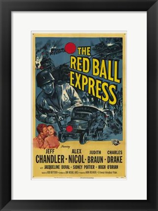 Framed Red Ball Express Print