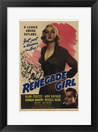 Framed Renegade Girl Print