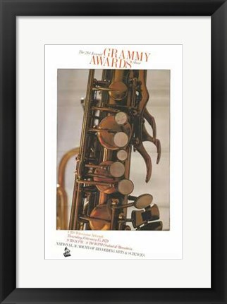 Framed 21St Annual Grammy Awards Print