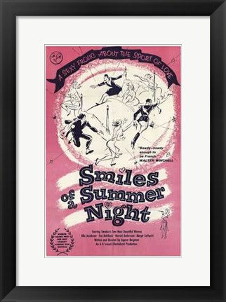 Framed Smiles of a Summer Night Print