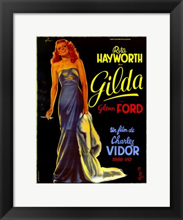 Framed Gilda Rita Hayworth French Print