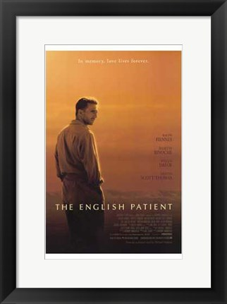 Framed English Patient - Man facing to the side Print