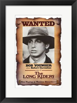 Framed Long Riders - Bob Younger Print