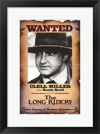 Framed Long Riders - Clell Miller Print