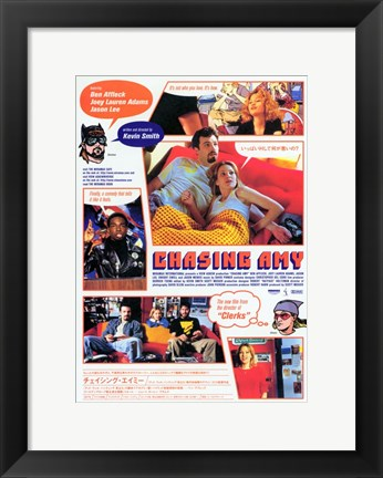 Framed Chasing Amy Jay and Silent Bob Print