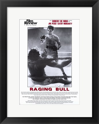 Framed Raging Bull Film Review Print