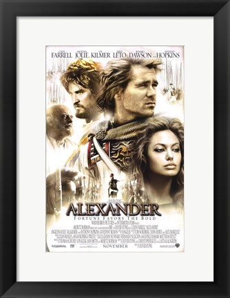 Framed Alexander - Fortune favors the bold Print
