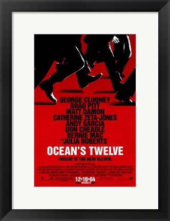 Framed Ocean's Twelve Red Print