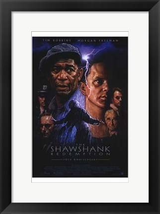 Framed Shawshank Redemption Lightning Print