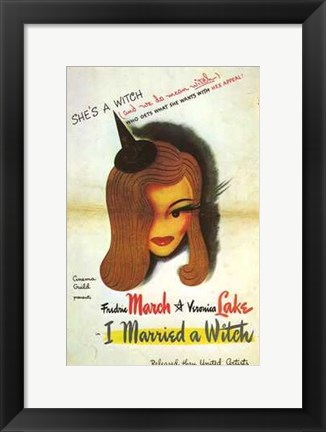 Framed I Married a Witch Print