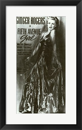 Framed Fifth Avenue Girl Print