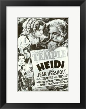Framed Heidi Black And White Film Poster Print
