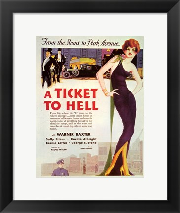 Framed Ticket to Hell Print