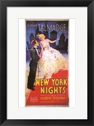 Framed New York Nights Print