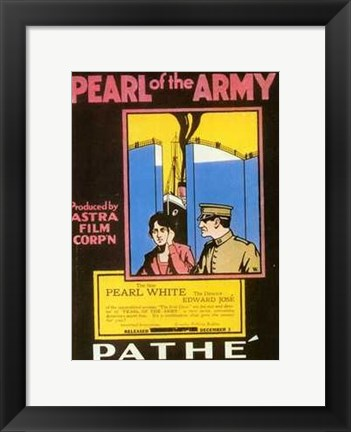 Framed Pearl of the Army Print