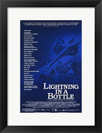 Framed Lightning in a Bottle Print