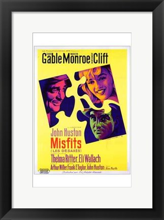 Framed Misfits John Huston Print